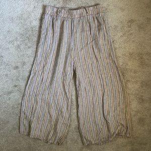 🍁Final Touch Linen Blend Wide Leg Culottes Pants